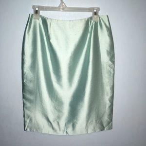 NWT Dana Buchman Petite Silk Pencil Skirt 10 Mint
